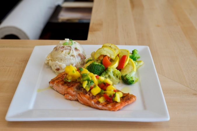 Caribbean Blackened Salmon
